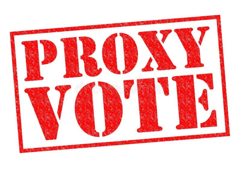 VOTE PAR PROCURATION photo libre de droits