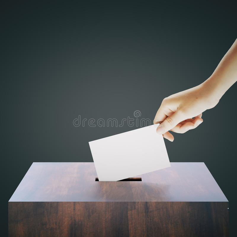 Vote prépondérant de main illustration stock