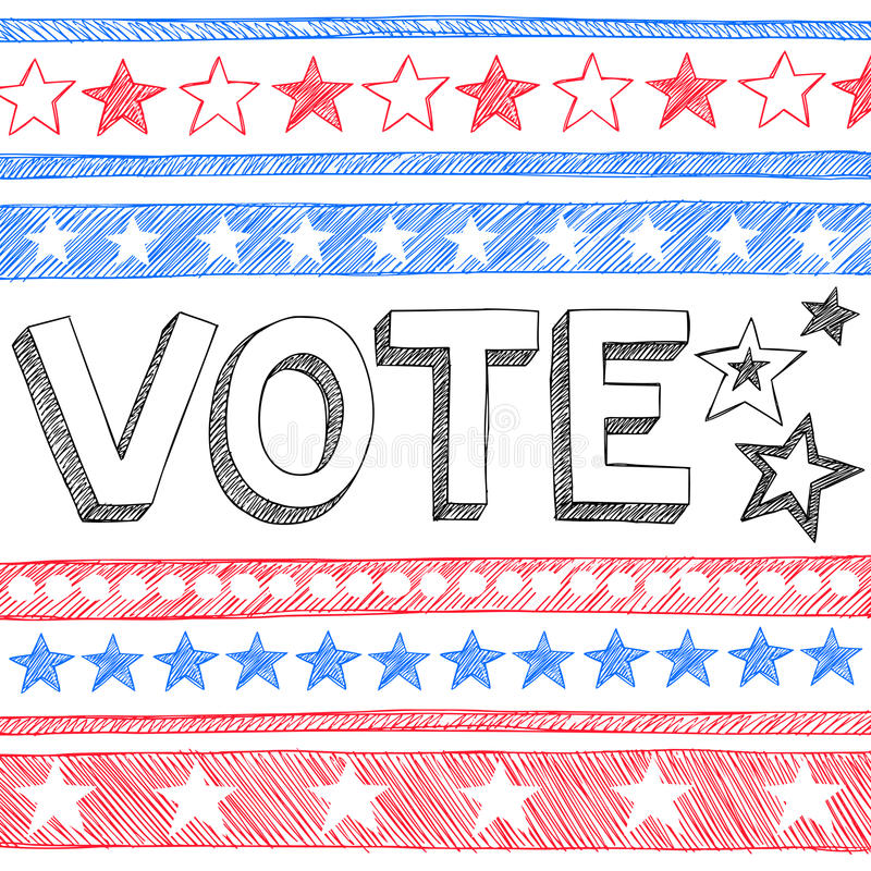 Free Vote President Election Sketchy Doodles Vector Stock Photos - 27294883