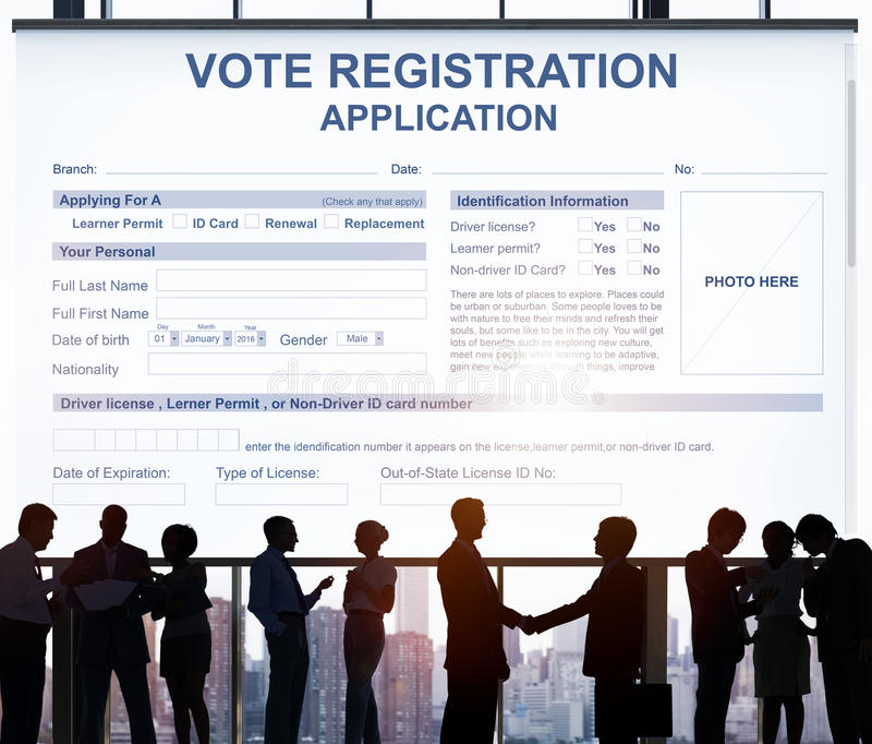 Vote Registration Application Election Concept. Candidate Vote Registration Application Election Concept royalty free stock photography