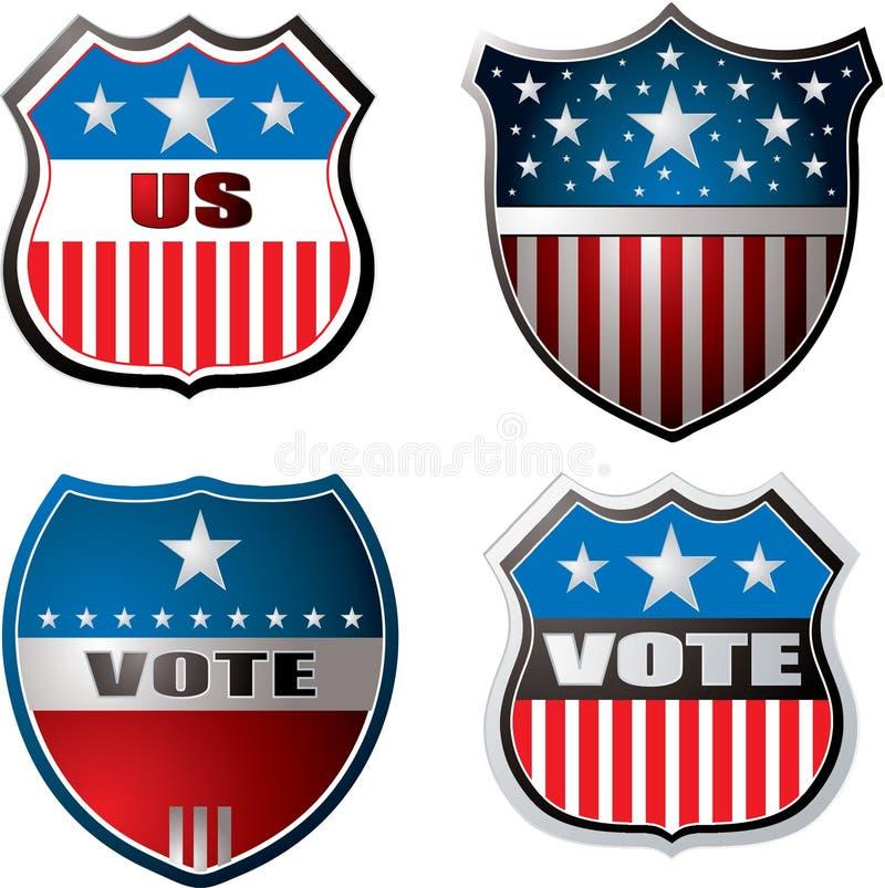Vote shield vector illustration