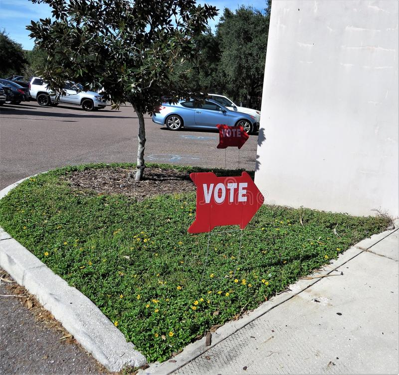 Vote sign, Florida stock image