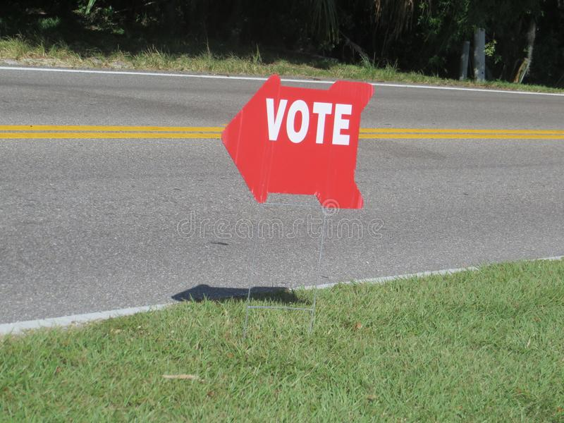 Vote sign, Florida stock photo