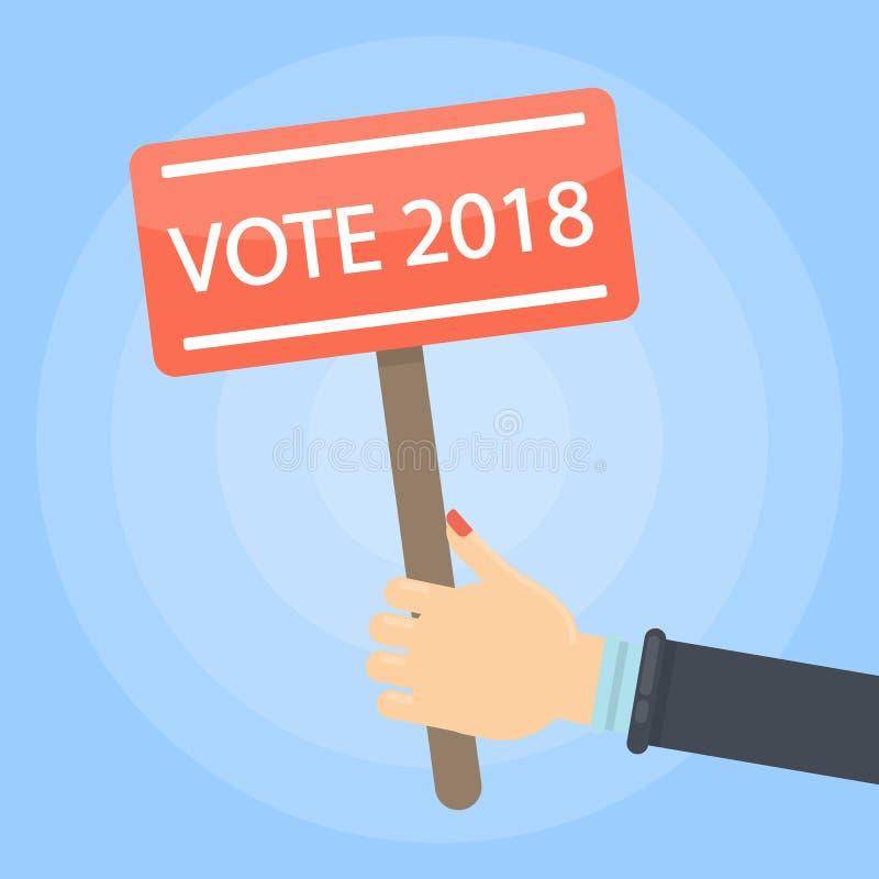 Vote 2018 sign. vector illustration