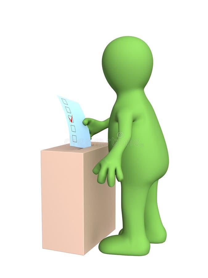 vote stylized par homme des élections 3d illustration stock