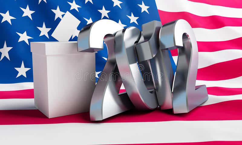 Download Vote usa 2012 stock illustration. Illustration of national - 24239834