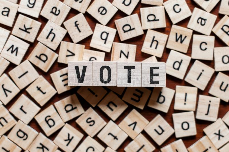 Vote word concept royalty free stock photography