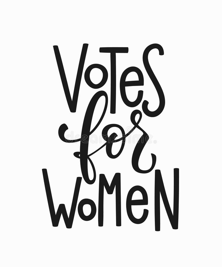 Download Votes For Women T Shirt Quote Lettering Stock Illustration