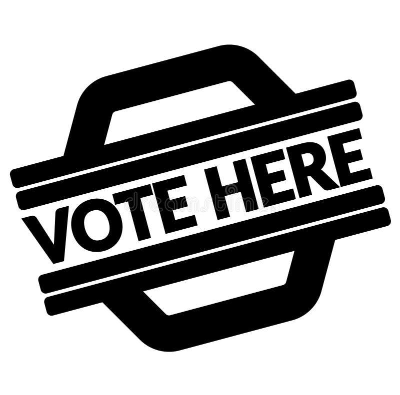 Votez ici le timbre noir illustration stock