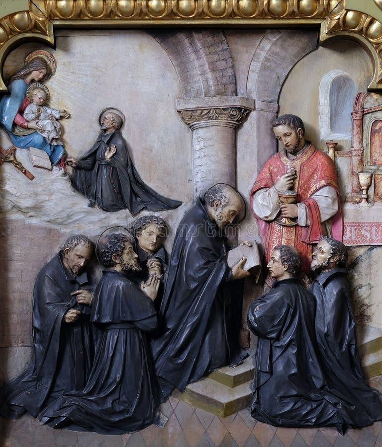 Voti dei primi membri della società di Gesù immagine stock