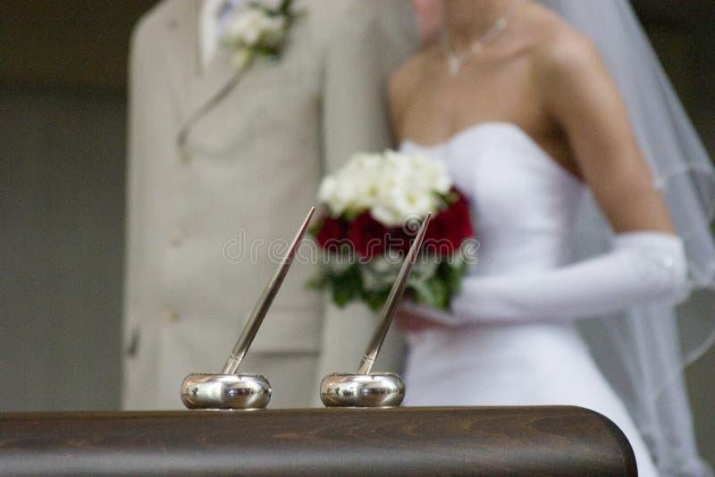 Voti di cerimonia nuziale fotografie stock