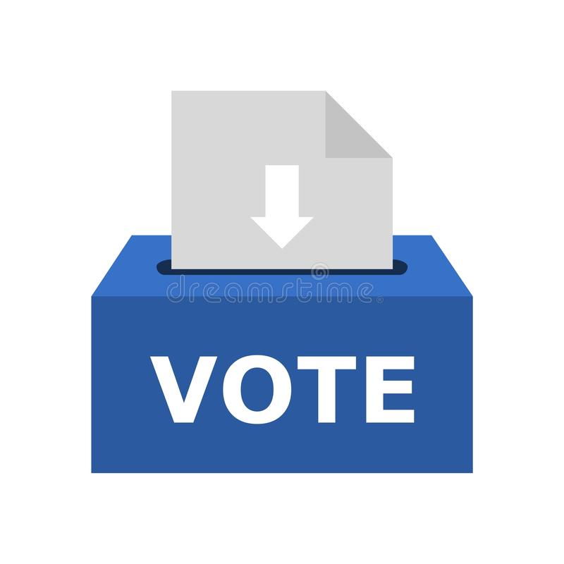 Free Voting Box Vector Illustration With Inserting Paper Sheet, Ballot Box Icon Royalty Free Stock Image - 121249866