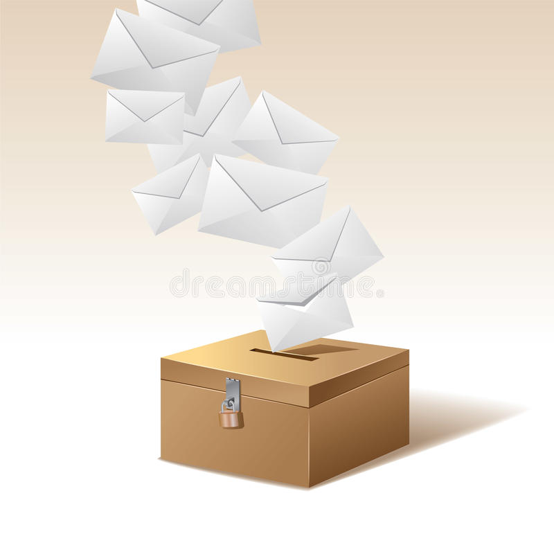 Voting box and vote royalty free illustration