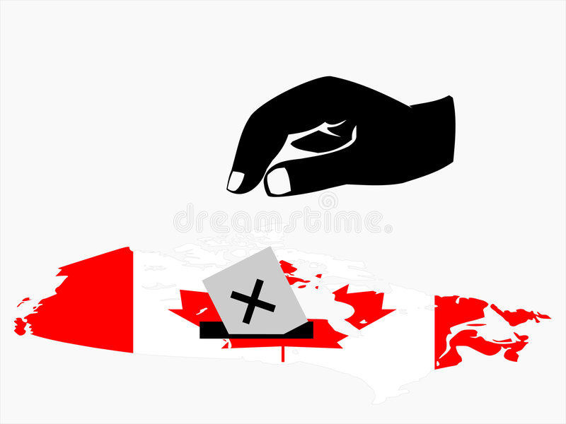 Download Voting In Canadian Election Stock Vector - Image: 6318140