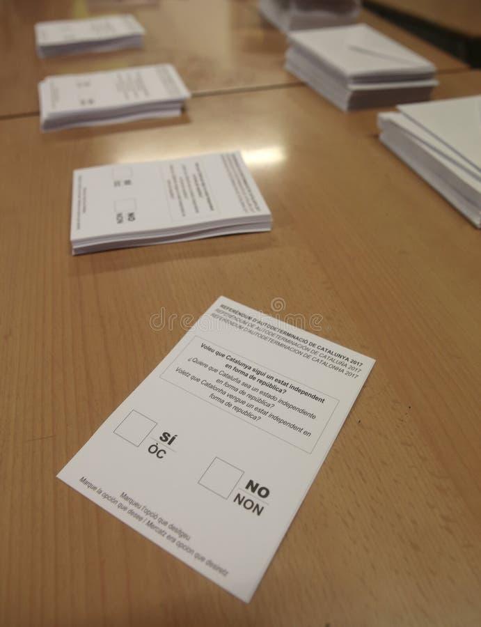 Polling station referendum in barcelona royalty free stock image