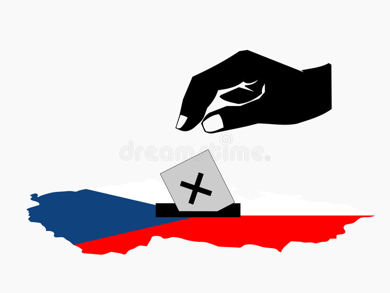 Voting In Czech Election Stock Photos