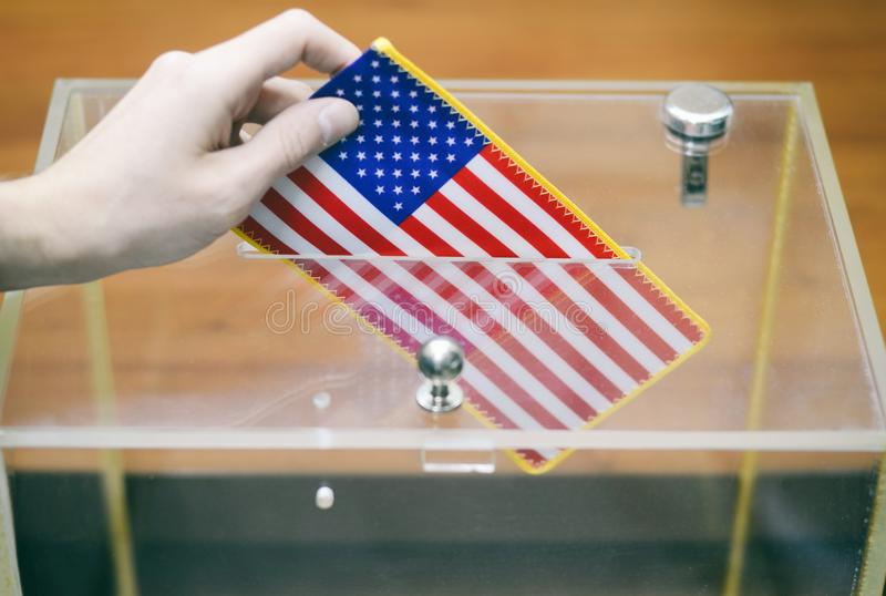 Voting , elections in United States of America. royalty free stock photography