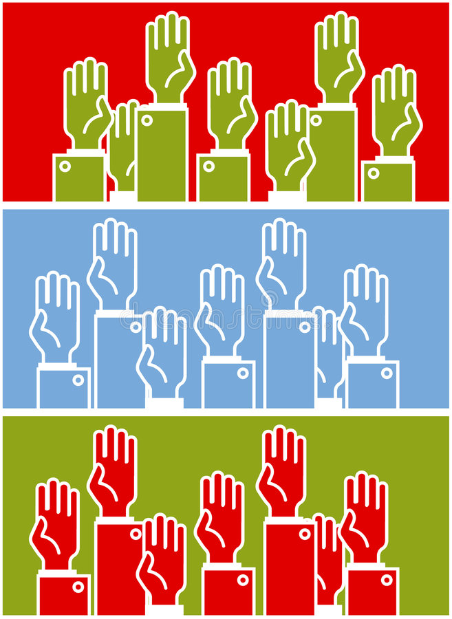 Voting group of people vector illustration