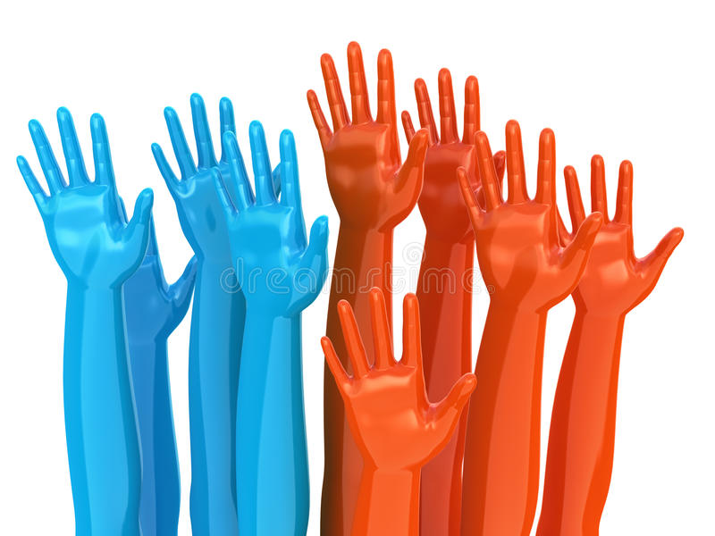 Download Voting hands concept stock illustration. Image of isolated - 17988592
