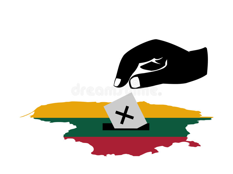 Voting In Lithuania Election Stock Photo