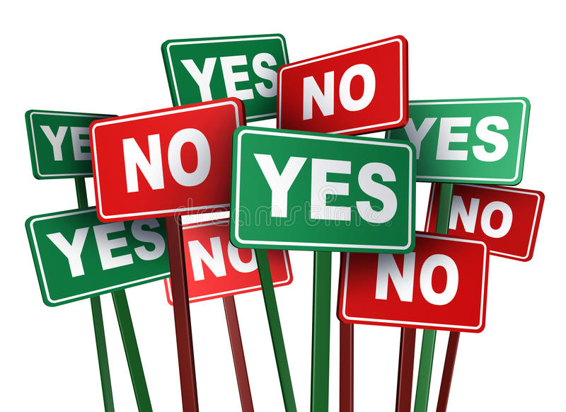 Voting Yes Or No royalty free illustration