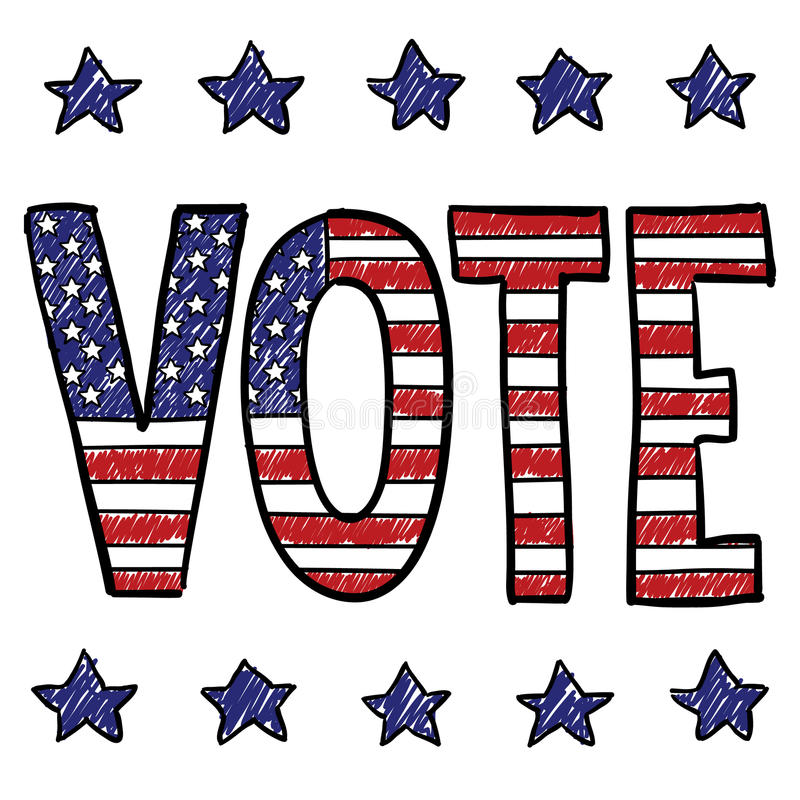 Voting is your patriotic duty sketch royalty free illustration