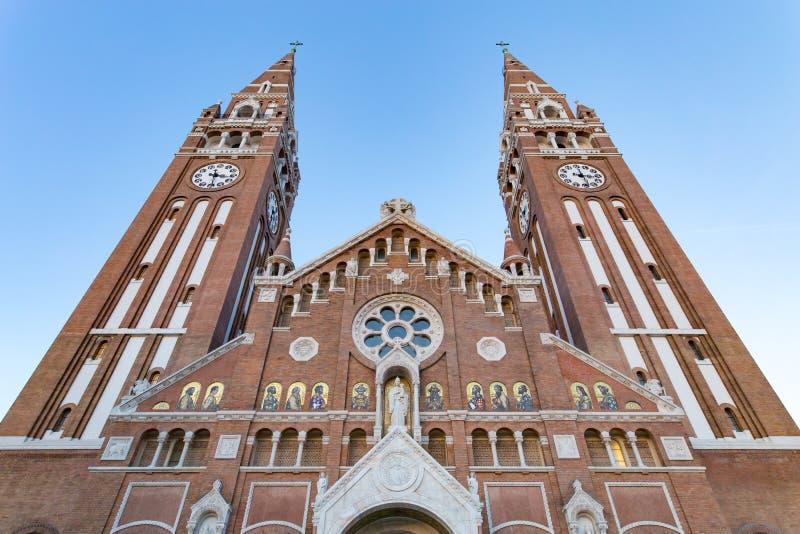 Votive εκκλησία Szeged, σύμβολο της πόλης στοκ εικόνα με δικαίωμα ελεύθερης χρήσης