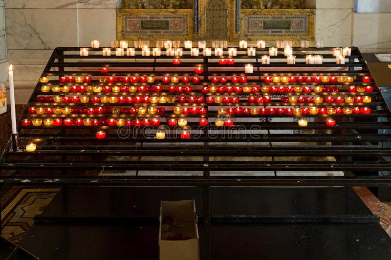 Votive Offering Candles stock photo