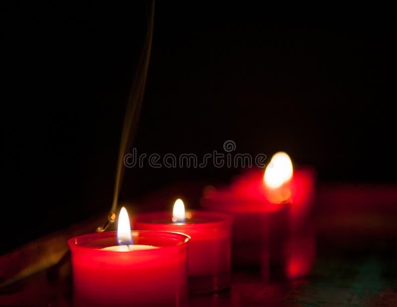 Votive candles stock photos