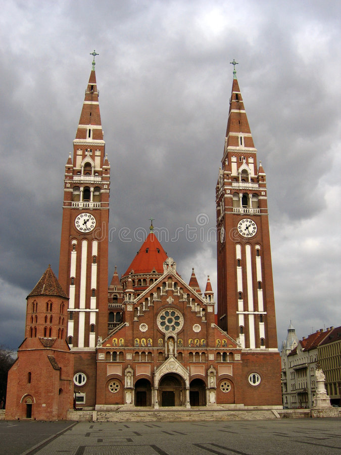 Download Votive Cathedral 04 - Szeged, Hungary Stock Image - Image: 1884875