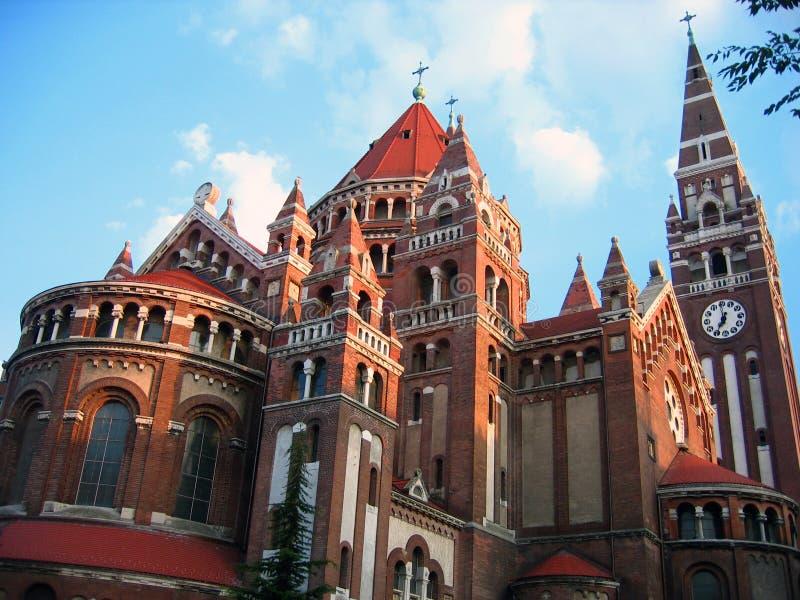 Votive Kerk - Szeged, Hongarije royalty-vrije stock fotografie