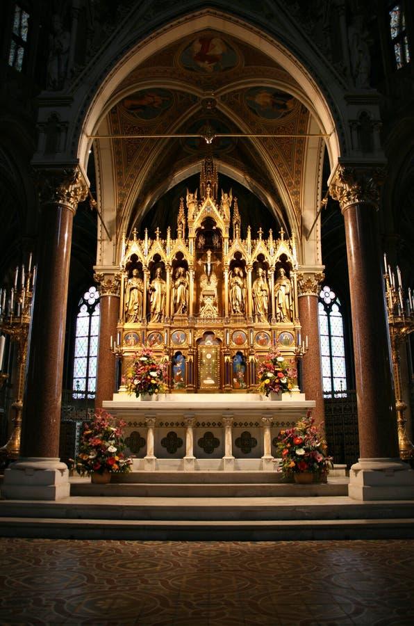 Votive Kerk in Wenen stock foto