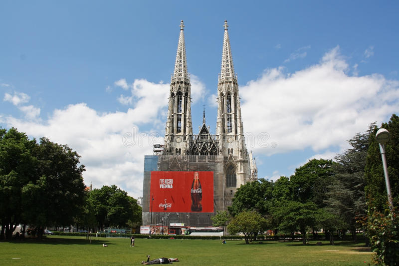 Votive Kerk, Wenen royalty-vrije stock foto