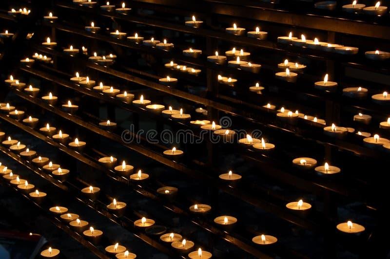 Votive lights stock image