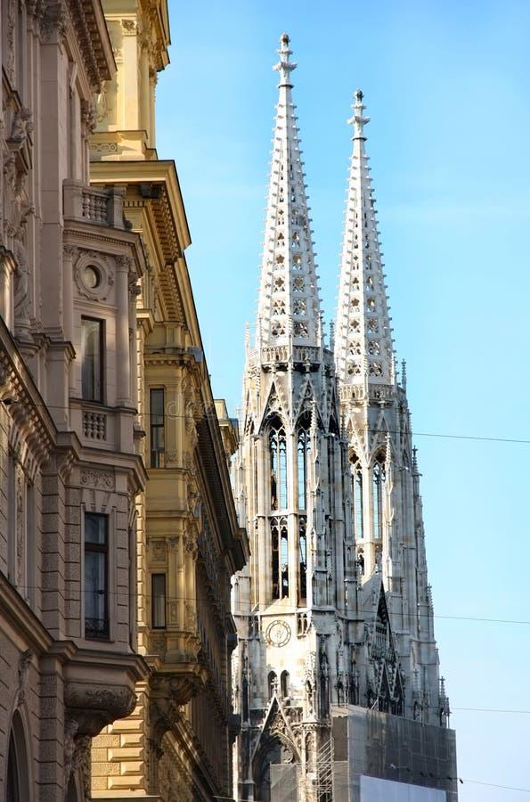Votivkirche在维也纳,奥地利 库存照片