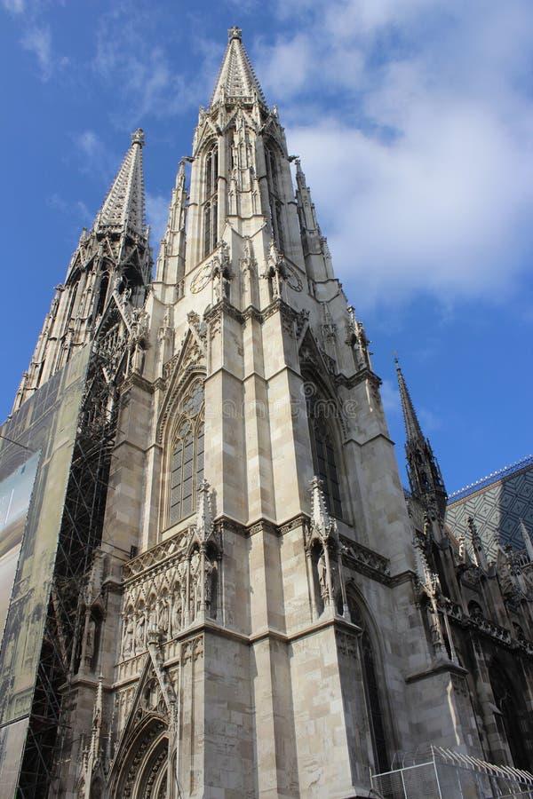 Votivkirche - Нео-готическая церковь (вена/Австрия) стоковое изображение