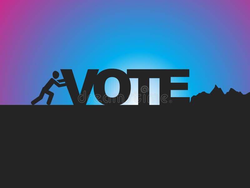 voto ilustração do vetor