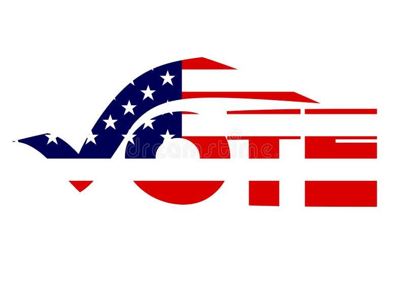 Voto ilustração royalty free