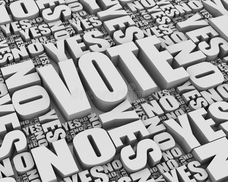 Voto stock de ilustración