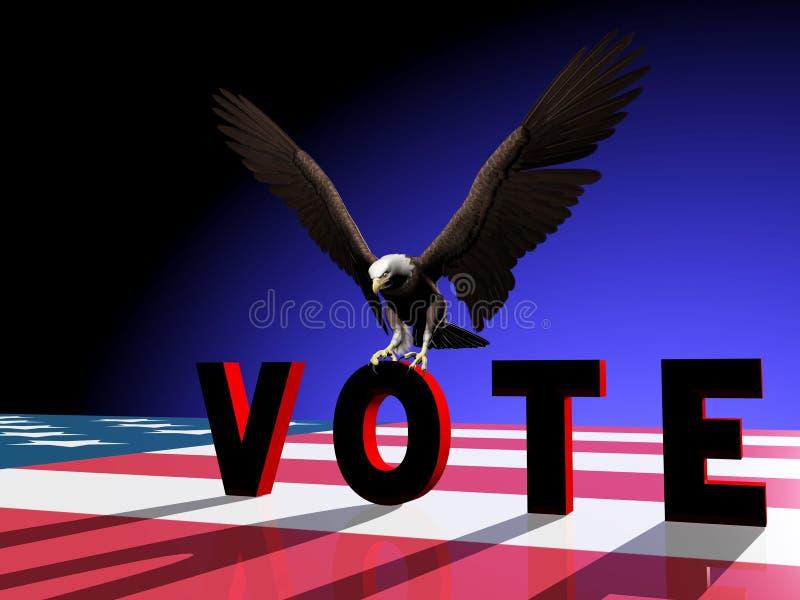 Voto 2 dell'aquila illustrazione vettoriale