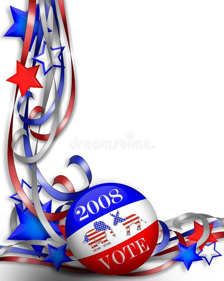 Voto 2008 del día de elección libre illustration
