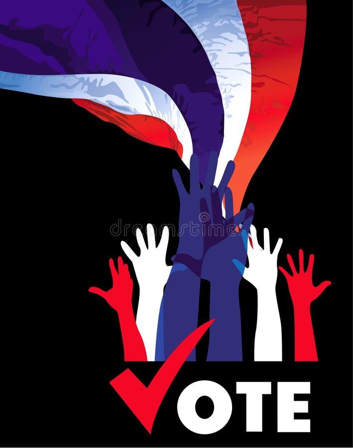 voto ilustração stock