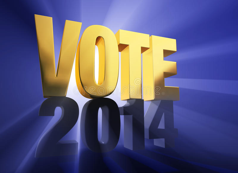 Voto 2014 royalty illustrazione gratis
