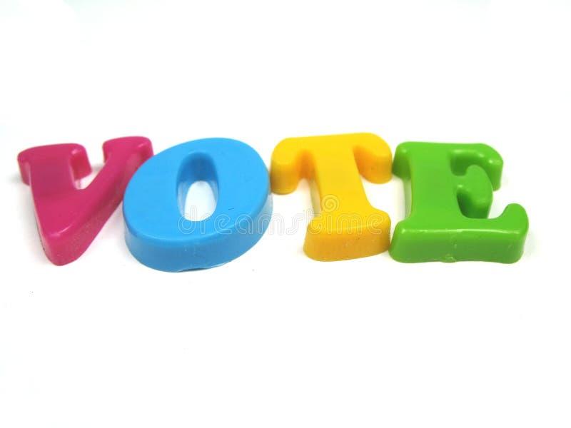 Voto! immagini stock