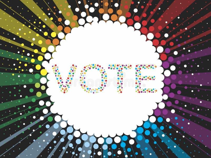 Voto illustrazione vettoriale