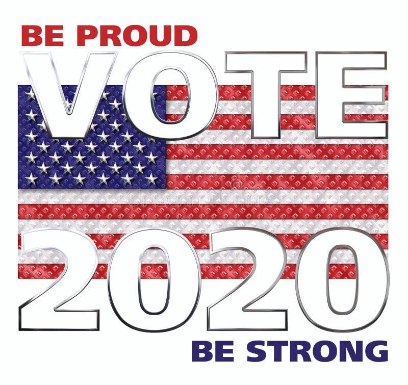 Voto América 2018 ilustração do vetor