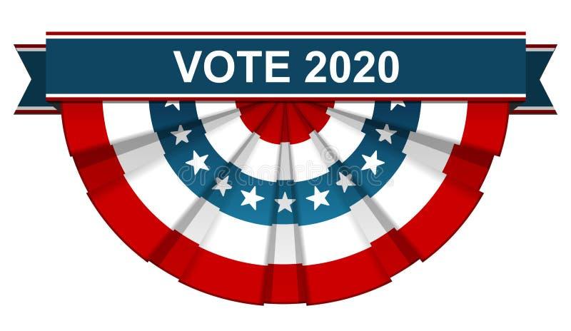 Voto 2020 illustrazione di stock