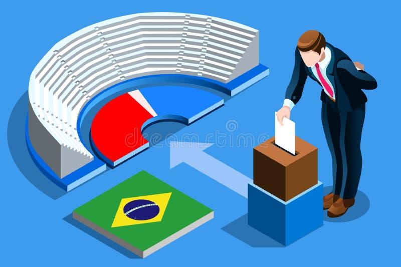 Voto brasileño Infographic de la elección del Brasil stock de ilustración
