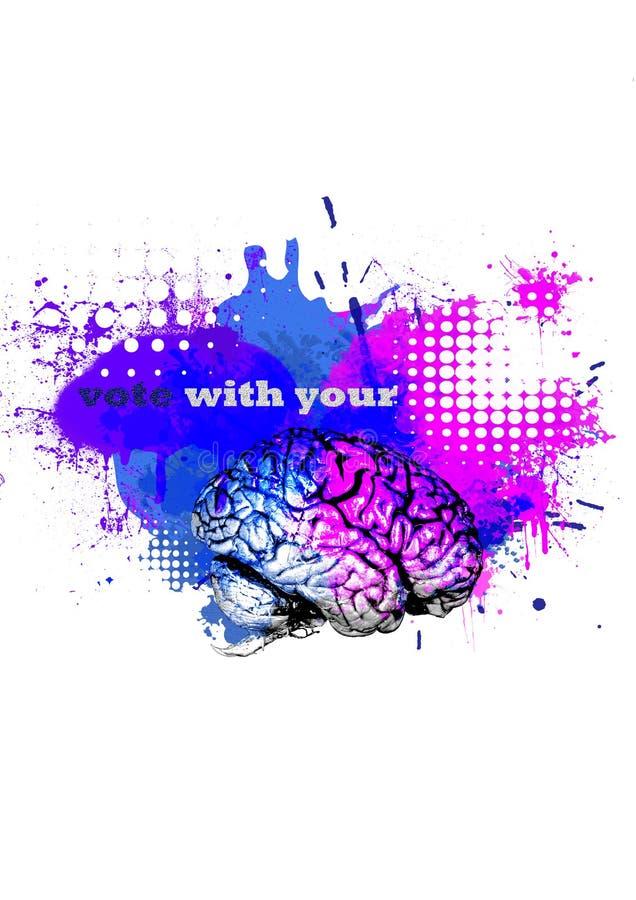 Voto com seu cérebro fotografia de stock royalty free