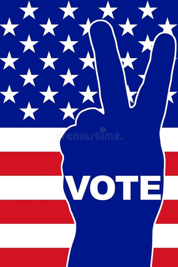 Voto degli S.U.A. illustrazione vettoriale